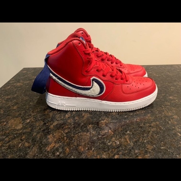 red blue nikes